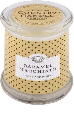 Country Candle Caramel Macchiato vonná svíčka   ve skle s víčkem