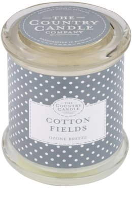 Country Candle Cotton Fields vonná sviečka   v skle s viečkom