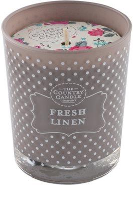 Country Candle Fresh Linen świeczka zapachowa    w szkle