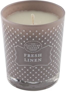 Country Candle Fresh Linen vonná svíčka   ve skle 1