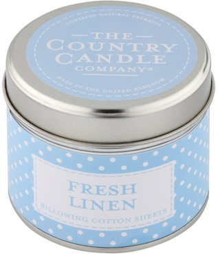 Country Candle Fresh Linen vela perfumado   Em placa