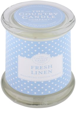 Country Candle Fresh Linen Scented Candle   in Glass Jar with Lid