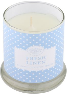 Country Candle Fresh Linen Scented Candle   in Glass Jar with Lid 1
