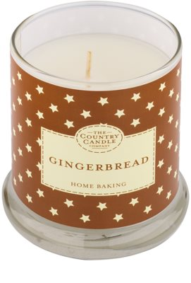 Country Candle Gingerbread Scented Candle   in Glass Jar with Lid 1