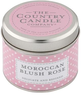 Country Candle Moroccan Blush Rose vonná svíčka   v plechu