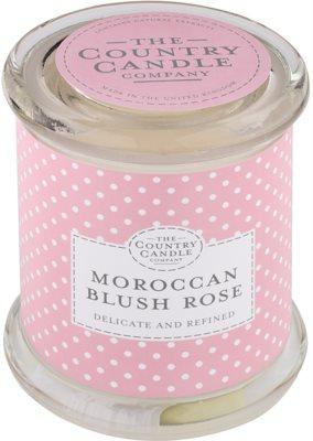 Country Candle Moroccan Blush Rose świeczka zapachowa    w szkle z pokrywką