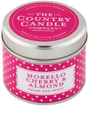 Country Candle Morello Cherry & Almond Scented Candle   in Tin