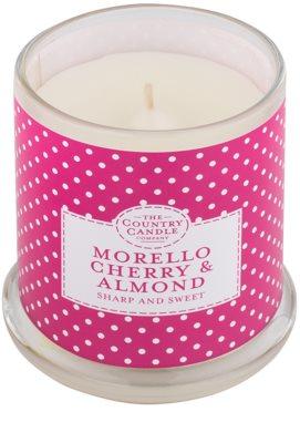 Country Candle Morello Cherry & Almond vela perfumado   em vidro com tampa 1