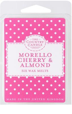 Country Candle Morello Cherry & Almond ceară pentru aromatizator