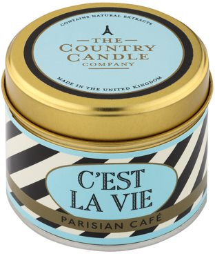 Country Candle Parisian Café vela perfumado   Em placa