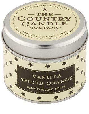 Country Candle Vanilla Spiced Orange vela perfumado   Em placa