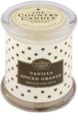Country Candle Vanilla Spiced Orange illatos gyertya    üvegben fedővel
