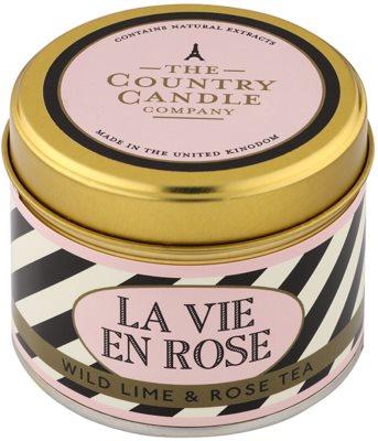 Country Candle Wild Lime & Rose Tea illatos gyertya    alumínium dobozban