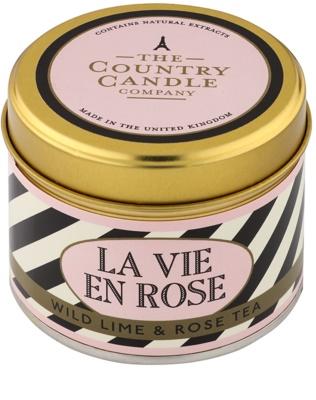 Country Candle Wild Lime & Rose Tea vonná svíčka   v plechu