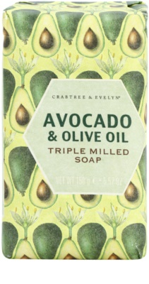 Crabtree & Evelyn Avocado & Olive Oil mýdlo s olivovým olejem