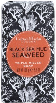 Crabtree & Evelyn Black Sea Mud & Seaweed luxuriöse Seife mit Meeresalgen und Heilschlamm