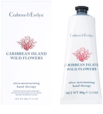 Crabtree & Evelyn Caribbean Island Wild Flowers hidratáló krém kézre 1