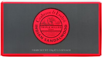 Crabtree & Evelyn Indian Sandalwood mydło w kostce 3