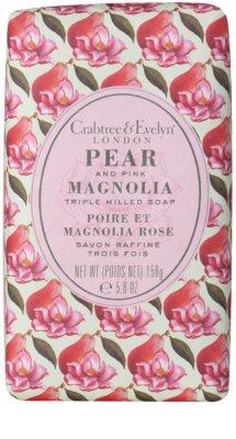 Crabtree & Evelyn Pear & Pink Magnolia tuhé mýdlo s hydratačním účinkem