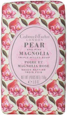 Crabtree & Evelyn Pear & Pink Magnolia tuhé mydlo s hydratačným účinkom