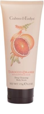 Crabtree & Evelyn Tarocco Orange tělový sprchový peeling