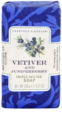 Crabtree & Evelyn Vetiver & Juniperberry luxuriöse Seife mit Vetiver und Wacholder