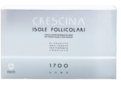 Crescina HAIR FOLLICULAR ISLANDS 1700 ampolla para la caída del cabello incipiente y avanzada para hombre 2