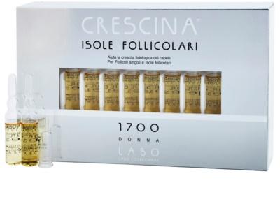 Crescina HAIR FOLLICULAR ISLANDS 1700 ampule proti počátečnímu řídnutí vlasů pro ženy