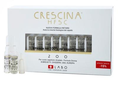 Crescina HFSC 200 ampule proti počátečnímu řídnutí vlasů pro ženy