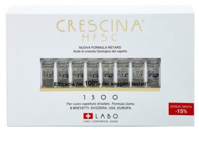 Crescina HFSC 1300 Ampullen gegen fortschreitenden Haarausfall für Herren 2