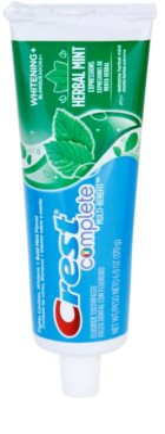 Crest Complete Herbal Mint Whitening+ fogkrém fehérítő hatással
