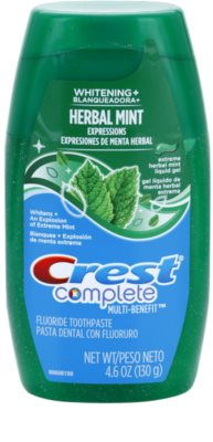 Crest Complete Herbal Mint Whitening+ gel dentar
