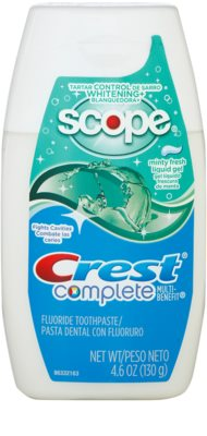 Crest Complete Scope Whitening+ gel dentar cu efect de albire