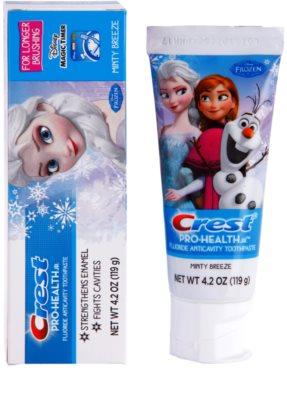 Crest Pro-Health Jr. Disney Frozen pasta de dientes para niños para fortalecer el esmalte dental 1
