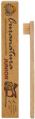 Curanatura Junior Kinderzahnbürste aus Bambus extra soft 1