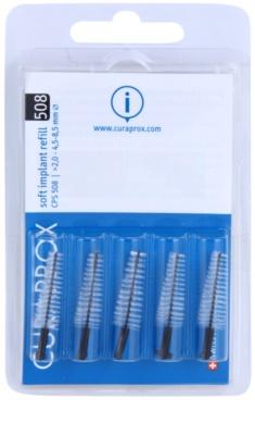 Curaprox Soft Implantat CPS náhradní mezizubní kónické kartáčky na čištění implantátů 5 ks