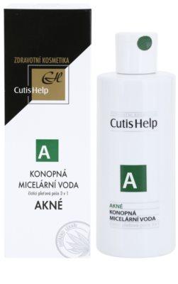 CutisHelp Health Care A - Akné konopná micelární voda 3 v 1 pro problematickou pleť, akné 1