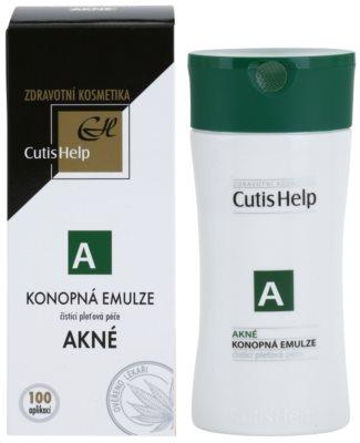 CutisHelp Health Care A - Acne очищуюча емульсія з екстрактом коноплі для проблемної шкіри 1