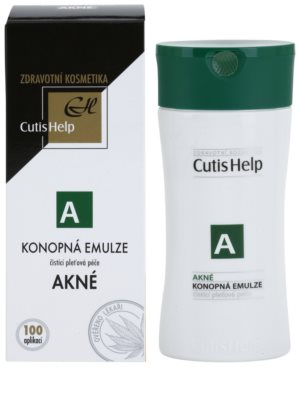CutisHelp Health Care A - Acne emulsión limpiadora de cáñamo para pieles problemáticas y con acné 1