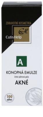 CutisHelp Health Care A - Acne emulsión limpiadora de cáñamo para pieles problemáticas y con acné 2