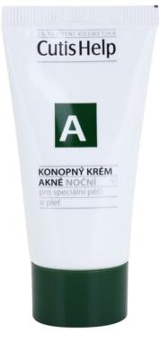 CutisHelp Health Care A - Acne creme de noite de cânhamo para pele problemática, acne