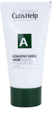 CutisHelp Health Care A - Acne нічний крем з екстрактом коноплі для проблемної шкіри