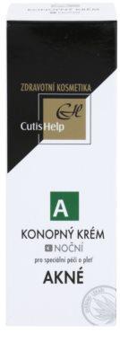 CutisHelp Health Care A - Acne konopny krem na noc do skóry z problemami 2