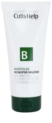 CutisHelp Health Care B - Mentolen konopljin hlanilni gel z mentolom za mišice in sklepe
