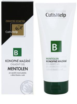 CutisHelp Health Care B - Mentolen kühlendes Gel mit Hanf und Menthol für Muskeln und Gelenke 1