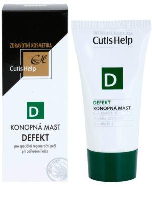 CutisHelp Health Care D - Defect мазь з екстрактом коноплі при пошкодженнях шкіри прискорює загоєння 1