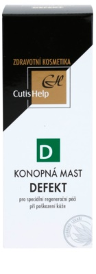 CutisHelp Health Care D - Defect мазь з екстрактом коноплі при пошкодженнях шкіри прискорює загоєння 2