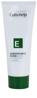 CutisHelp Health Care E - Eczema konopljino nočno mazilo proti ekcemu za obraz in telo