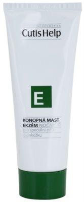 CutisHelp Health Care E - Eczema Pomada noturna de cânhamo para sinais de eczema para rosto e corpo