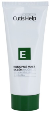 CutisHelp Health Care E - Eczema конопен нощен мехлем при прояви на дерматит за лице и тяло